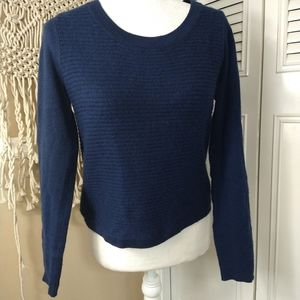 Quinn ribbed navy cashmere sweater size xs